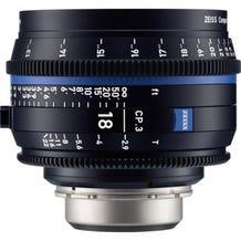 Zeiss CP.3 18mm T2.9 Compact Prime Lens - PL Mount