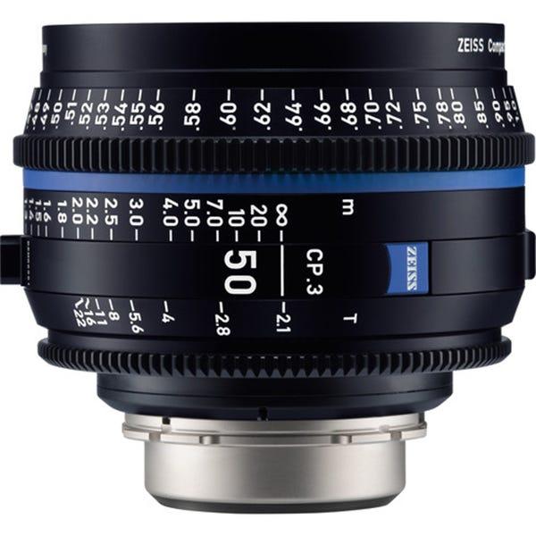 Zeiss CP.3 50mm T2.1 Compact Prime Lens - PL Mount