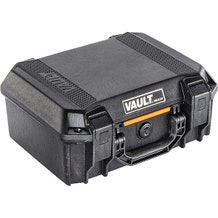 Pelican V200 Vault Case w/ Foam - Black