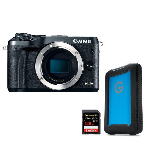 Canon EOS M6 Mirrorless Digital Camera Filmmaker Bundle