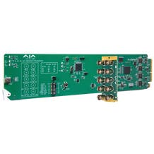 AJA openGear 3G-SDI 8-Channel 24-bit AES Embedder/Disembedder with DashBoard Support