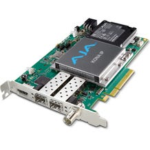 AJA IP Video/Audio I/O card, 8-Lane PCIe 2.0, 2x 10 GigE