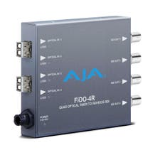 AJA 4-Channel Multi-Mode LC Fiber to 3G-SDI Receiver