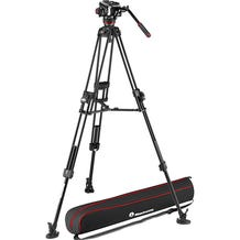 Manfrotto 504X Fluid Video Head & 645 Aluminum Tripod with Mid-Level Spreader
