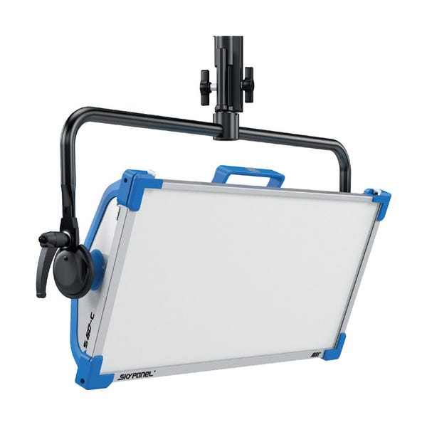 Arri SkyPanel S60-C LED Softlight w/ Manual Yoke (Blue/Silver, Edison)