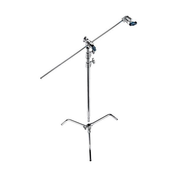 "Avenger 40"" Chrome C-Stand with Turtle Base, Grip Head & Arm"