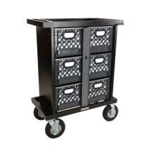 Backstage 6-Crate Vertical Set Box Cart