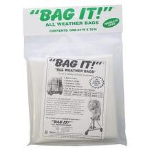 """BAG IT! 84 x 70"""" 6-Mil Visqueen Bags/Tarps/Rain Covers - Medium, Clear"""