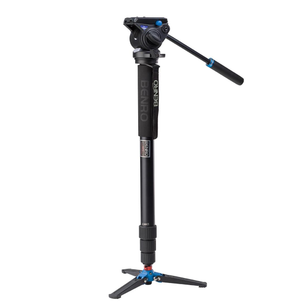 Benro A48TDS4 Series 4 Aluminum Monopod with 3-Leg Locking Base and S4 Video Head