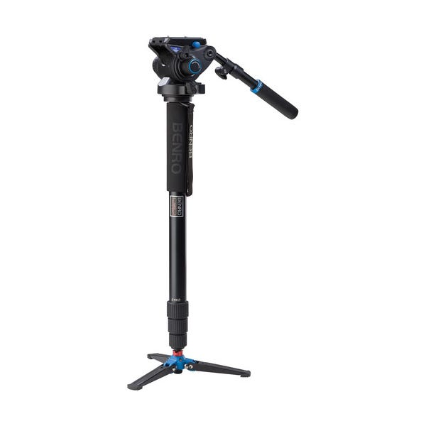 Benro A48TDS6 Series 4 Aluminum Monopod with 3-Leg Locking Base and S6 Video Head