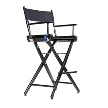 Custom Back Print - Film Craft Studio Tall Director's Chair - Black