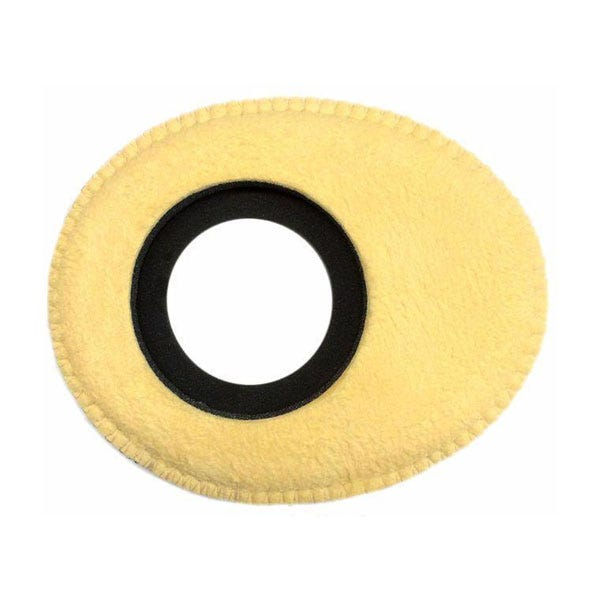 Bluestar Chamois Leather Eyepiece Cushions - Oval Large (Natural)