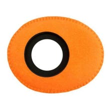 Bluestar Ultrasuede Eyepiece Cushions - Oval Small (Orange)