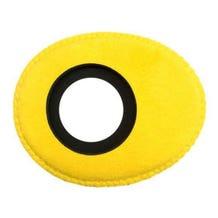 Bluestar Ultrasuede Eyepiece Cushions - Oval Small (Yellow)
