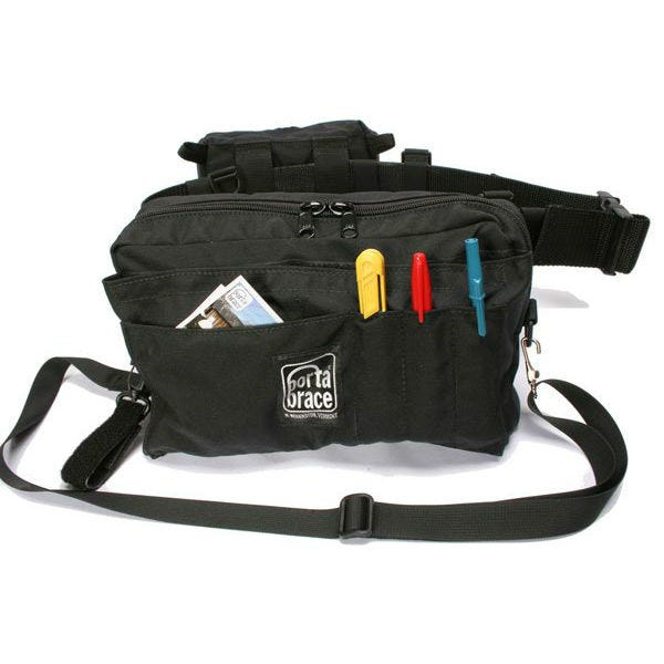 Porta Brace BP-2B Black Waist Belt Production Pack with Two Cargo Pouches