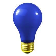 Bulbrite A19 60W 120V Blue Globe