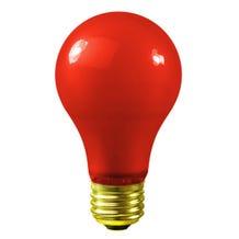 Bulbrite A19 60W 120V Red Globe