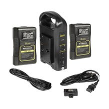 ikan Dual Pro Battery Charger w/ Two 95 Wh Gold Mount Li-Ion Batteries