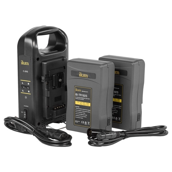 ikan V-Mount Pro Power Kit with Two Batteries & Dual Charger