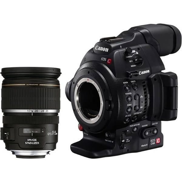 Canon EOS C100MK II Cinema Camera EF-S 17-55 Kit