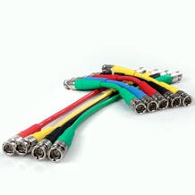 "Canare 6"" Digital Flex SDI BNC Cable - Black"