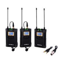 Comica Audio CVM-WM100 PLUS 2-Person Camera-Mount Wireless Omni Lavalier Microphone System (568.125 to 591.875 MHz)