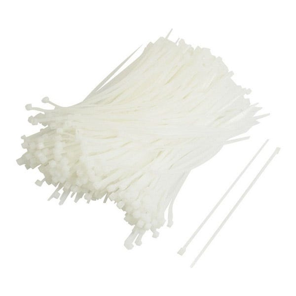 "Zack Electronics 11"" Cable Ties - White (100 Pack)"