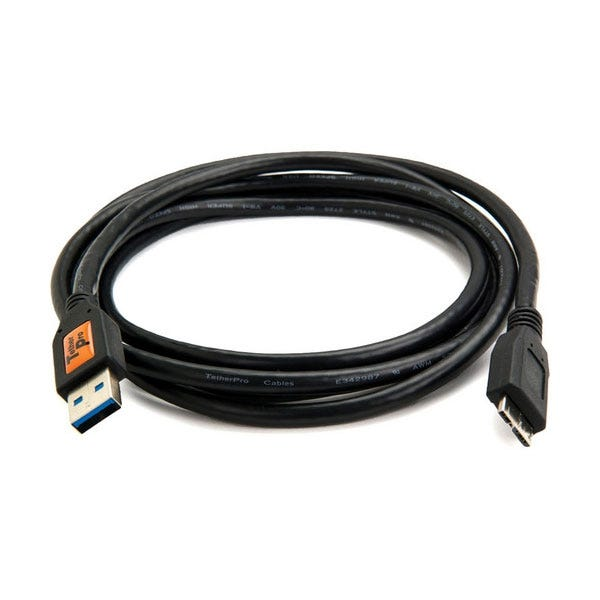 Tether Tools 6' TetherPro USB 3.0 Male Type-A to USB 3.0 Micro-B Cable - Black