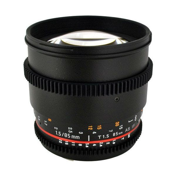 Rokinon 85mm T1.5 Cine AS IF UMC Lens for Micro Four Thirds