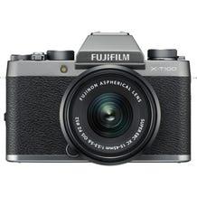 FUJIFILM X-T100 Mirrorless Digital Camera with 15-45mm Lens - Dark Silver