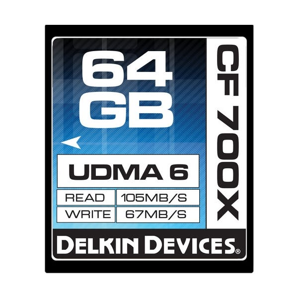 Delkin Devices 64GB CompactFlash 700x UDMA Memory Card