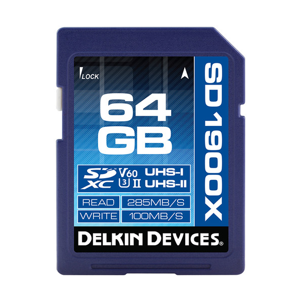 Delkin Devices 64GB UHS-II V60 SDXC Memory Card