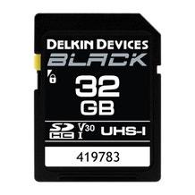 Delkin Devices 32GB BLACK UHS-I (U3/V30) SDXC Memory Card