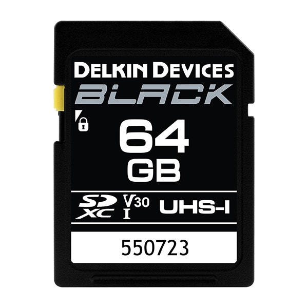 Delkin Devices 64GB BLACK UHS-I (U3/V30) SDXC Memory Card