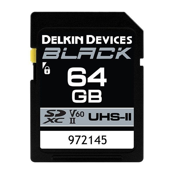Delkin Devices BLACK UHS-II (U3/V60) SDXC Memory Card (Various)