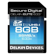 Delkin Devices 8GB Elite UHS-I SDHC Memory Card