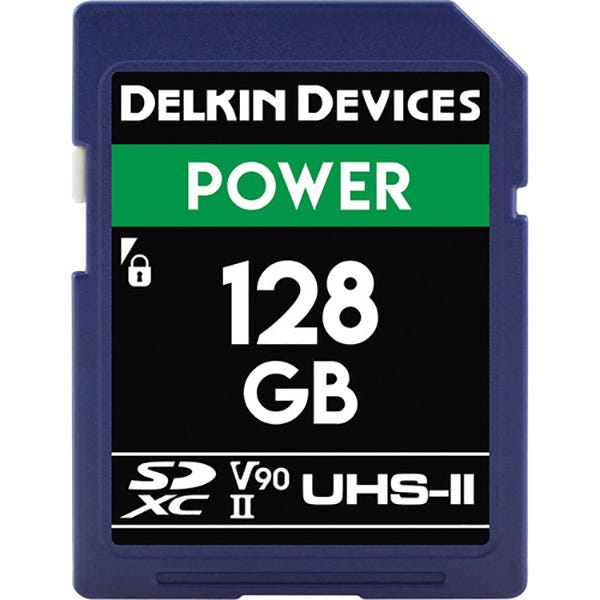 Delkin 128GB Power UHS-II SDXC Memory Card