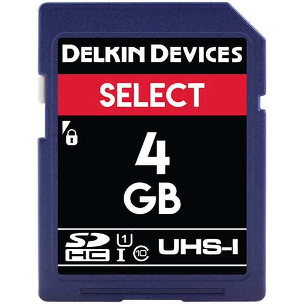 Delkin Devices 4GB Select UHS-I SDHC Memory Card