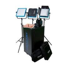 Dracast LED1000 Pro Daylight 3-Light Studio Kit with V-Mount Battery Plates
