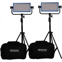 Dracast LED500 Pro Bi-Color 2-Light Kit - Gold Mount Battery Plate`