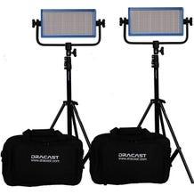 Dracast LED500 Pro Bi-Color 2-Light Kit - V-Mount Battery Plate