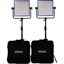 Dracast LED1000 Pro Bi-Color 2-Light Kit - V-Mount Battery