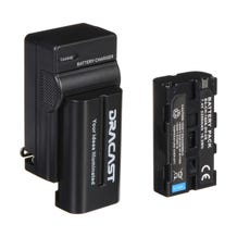 Dracast 2x NP-F 2200mAh Batteries and 1 Charger Kit