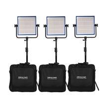 Dracast LED1000 Pro Daylight LED 3-Light Kit with V-Mount Battery Plates and Stands