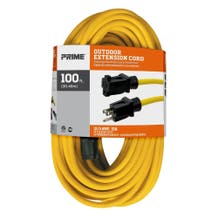 Prime EC500835 100ft. 12/3 Extension Cord - Yellow