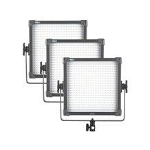 F & V Lighting K4000S Plus Bi-ColorLED Studio Panel 3-Light Kit, V-Mount Battery Plate