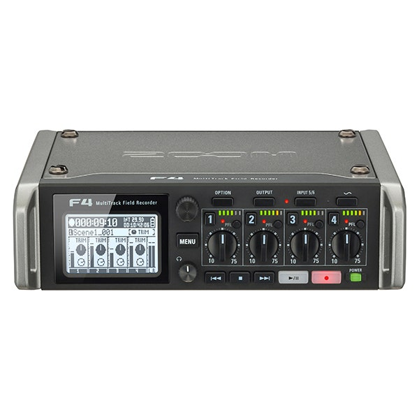 Zoom F4 Multitrack Field Recorder with Timecode - 6 Inputs / 8 Tracks