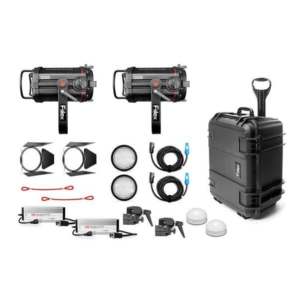 Fiilex Two Light Q500-DC Fresnel Travel Kit