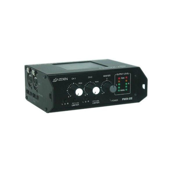 Azden FMX-22 Portable Battery Powered 2-Channel Mixer