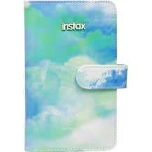FUJIFILM INSTAX Mini Faux Leather Tie-Dye Wallet Album (Cobalt-Lime Watercolor)